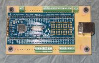 LPC1343 board on a PCB with USB device connector
