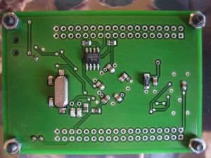 Bottom side of the lpc1754 target board